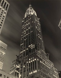 chrysler building at night by tom baril
