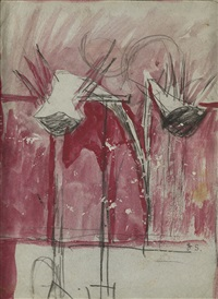 study for palm and house by graham sutherland