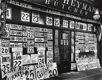 jacob heymann butcher shop, 345 sixth avenue by berenice abbott