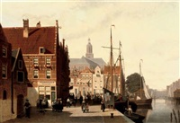 summer in alkmaar by john frederik hulk the younger