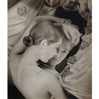 woman and mirror, tiffany & co., harper's bazaar, november by erwin blumenfeld