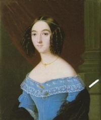 portrait of mary jane eldridge by charles cromwell ingham