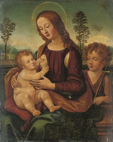 the madonna and child with the infant saint john the baptist by lorenzo di credi