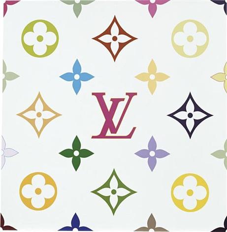 superflat monogram white by takashi murakami