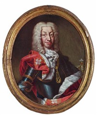 charles emanuel iii, king of sardinia and duke of savoy in the red robe of the supreme order of the most holy annunciation by claudio francesco beaumont