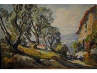 la route aux oliviers, côte d'azur by marius hubert-robert