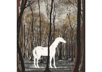 white horse by matazo kayama