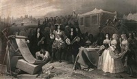 louis xiv fonde l'hôtel des invalides (after schopin) by eugene-pontus jazet