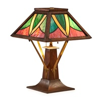 table lamp by arts & crafts mission