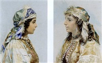 zíngaras (pair, young gypsies) by josé tapiro y baro