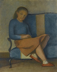 colette assise by balthus