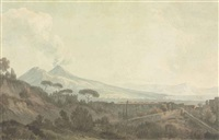 view of vesuvius, naples, italy by john warwick smith