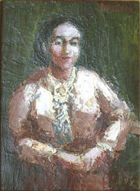 frauenportrait by holmead (clifford holmead phillips)
