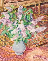 lilacs in an interior by lillian mackendrick