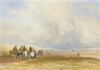 ulverstone sands, cumbria by david cox the elder