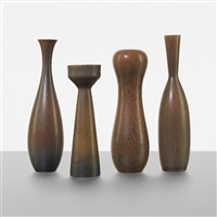 collection of four vases (4 works) by carl-harry stålhane
