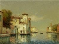 a venetian canal scene by noel georges bouvard