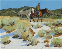 across the arroyo by walter ufer