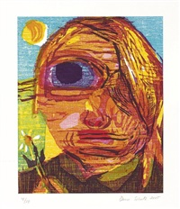 one eyed girl (+ untitled - poisoned man; 2 works) by dana schutz