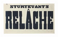 relâche by sturtevant