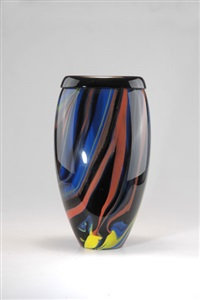 vase (designed by missoni) by avem (arte vetraria muranese)
