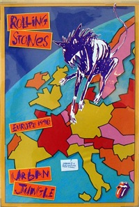 the rolling stones, urban jungle by andie airfix