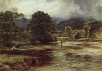 sunshine and showers, balenluig by james faed the younger