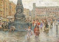 piazza del mercato by vincenzo migliaro