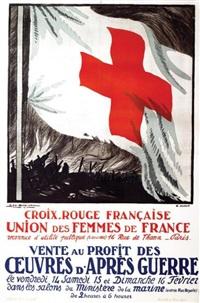 croix-rouge française 1916 union des femmes de france by georges dorival