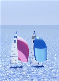 sailing off coast by virgilio raposo