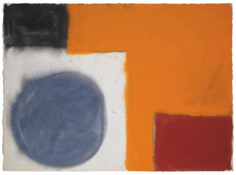 soft blue grey disc and orange november 1964 by patrick heron