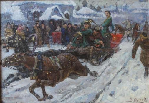 lhiver russe by vladimir nikolaevitch aralov