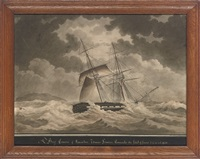 the brig comerce of kincardine in stormy seas by nicolas s. cammillieri