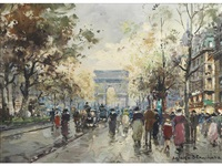 on the champs-elysees by antoine blanchard