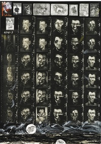 the last man on earth (f. bacon portraits during the dead elephant interviews) by peter beard