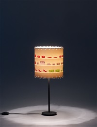 untitled (table lamp w/chromogenic prints flushmounted to plastic foil) by clauss föttinger and andreas gursky