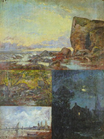 quatre paysages by f leteurtre