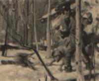 illustration: angry hunter by leland gustavson