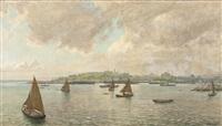 schiffe in der hafeneinfahrt von konstantinopel by ferdinand otto leiber