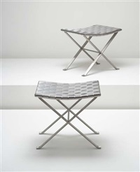 pair of stools by michel pigneres