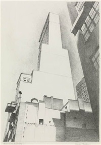 the delmonico building by charles sheeler