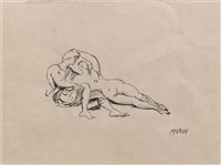 untitled (two figures) by reginald marsh