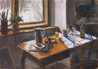 csendélet ablaknál (still life by the window) by tamas konok