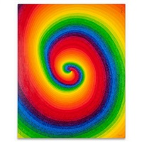 black hole no.3 (24rainbow gradation with rap ・right) by ay-o