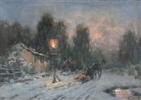 paesaggio notturno innevato by ivan karpov