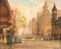 melbourne street scene by charles salis lloyd