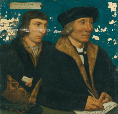 portrait of thomas godsalve c1481 1545 with his son john c 1510 1558 by hans holbein the younger