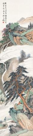 青绿山水 by wang kun