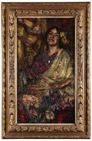 portrait einer römischen schönheit by antonio mancini