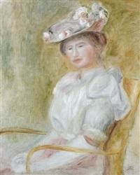 jeune femme assise by pierre-auguste renoir